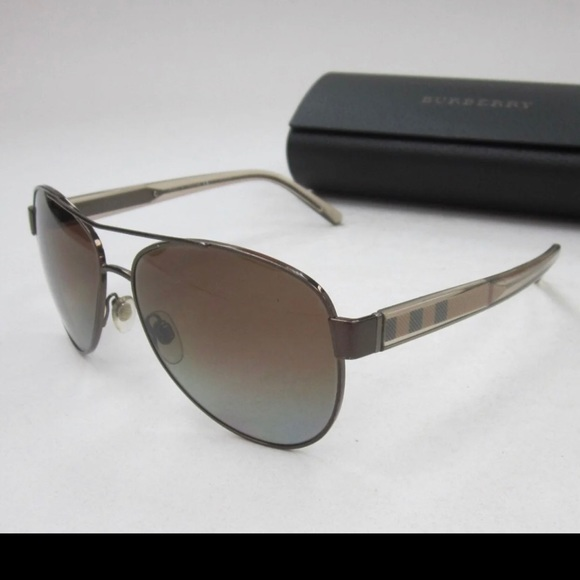 Authentic Burberry B 3072 1145/T5 Gold / Brown